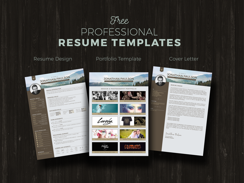 Free Resume CV, Portfolio, Cover Letter Template By Designbolts On DeviantArt
