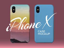 Free iPhone X Silicon Case Back Cover Mockup PSD