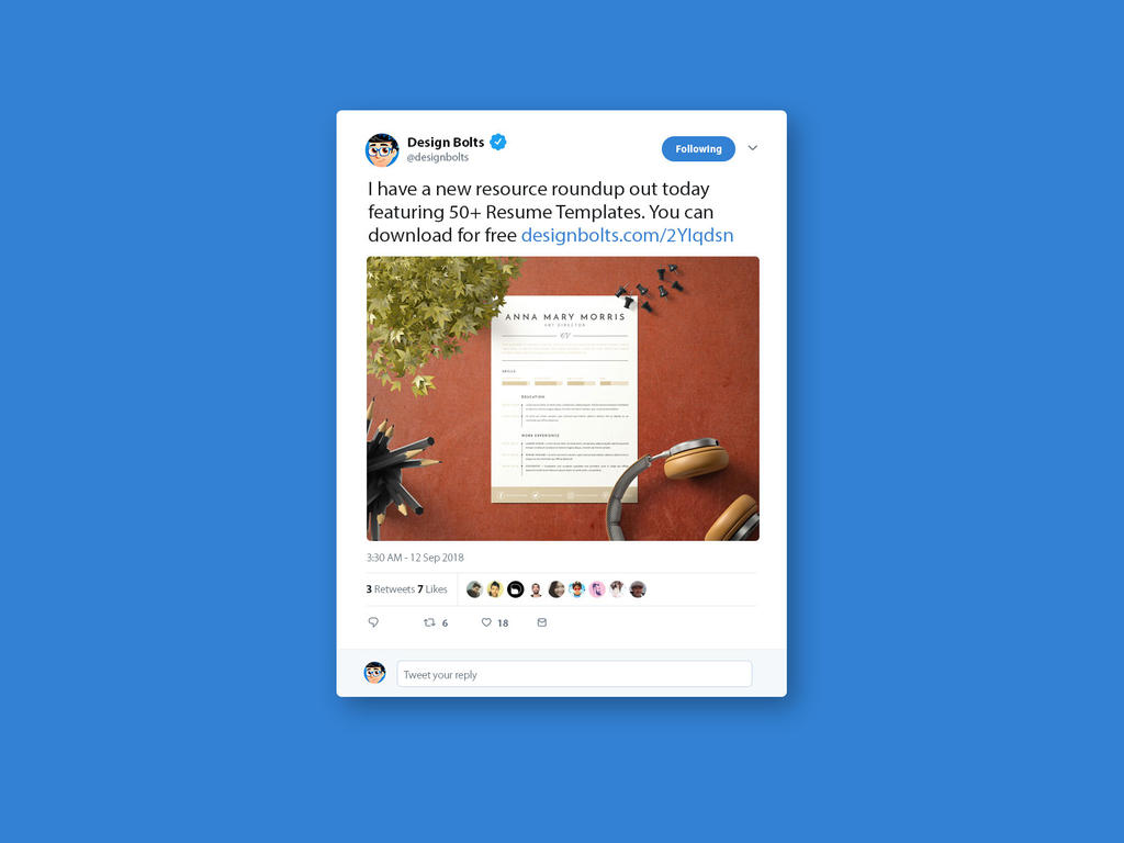 Free Twitter Tweet Ui Mockup PSD 2018 by Designbolts