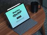 Free iPad Pro 2018 Mockup PSD with Keyboard by Designbolts