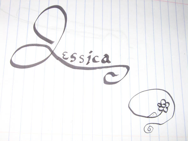 Jessica calligraphy by jess on deviantart