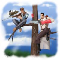 Sniper and Medic. by Klashmyag