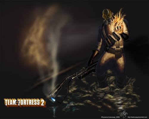 TF2 Pyro Wallpaper