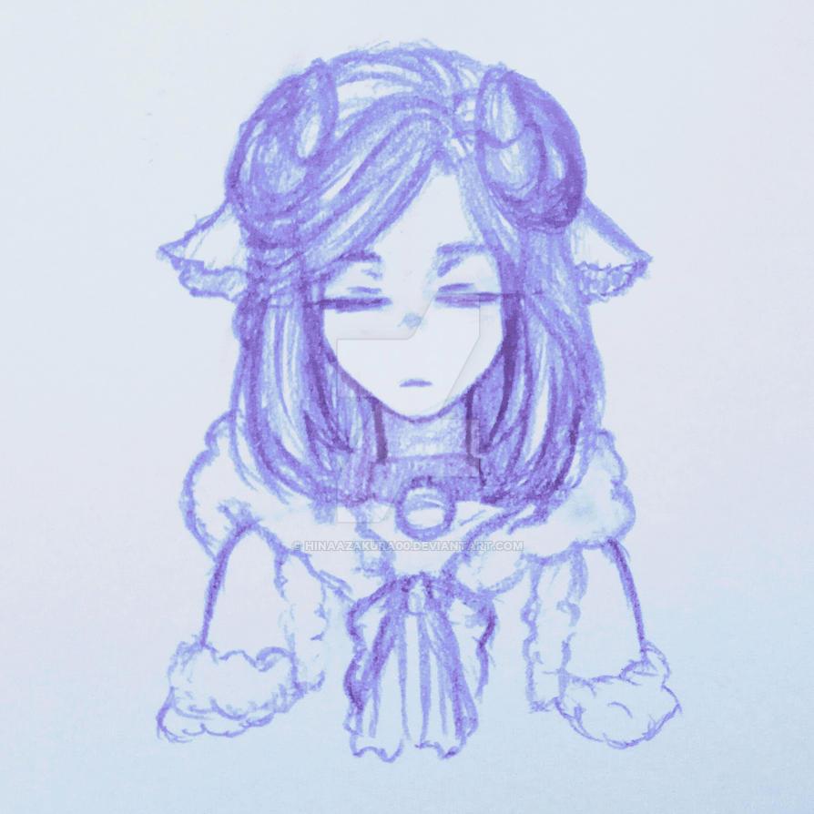 New OC Headshot : Ram by HinaAzakura00