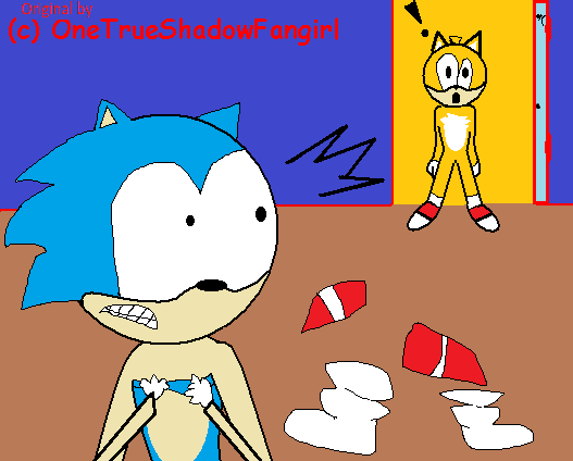 Tails sees Sonic naked by Ghostbustersmaniac