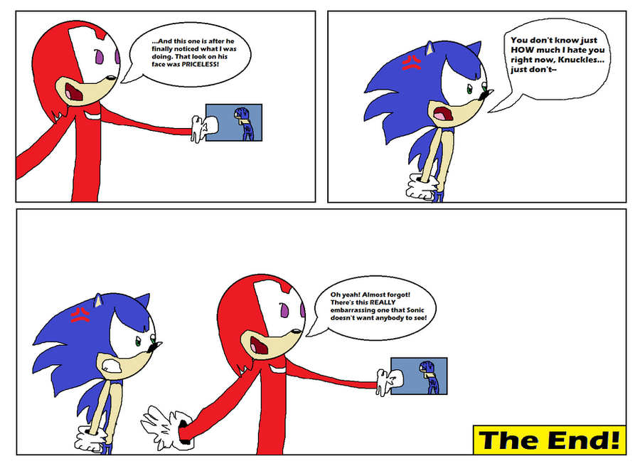 Knuckles' naked Sonic pics by Ghostbustersmaniac