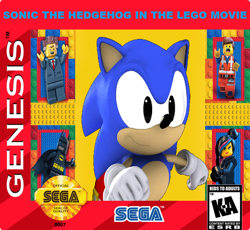 Sonic In The LEGO Movie Cartridge Art By