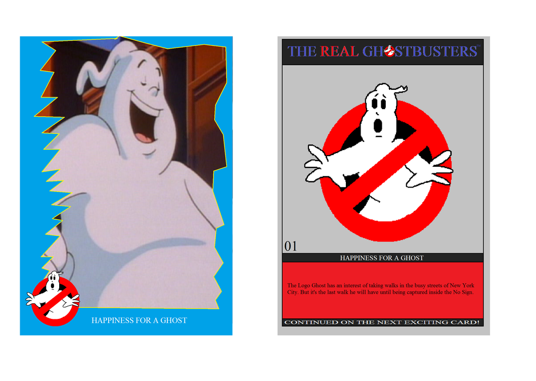 Real Ghostbusters Cards: Example by Ghostbustersmaniac