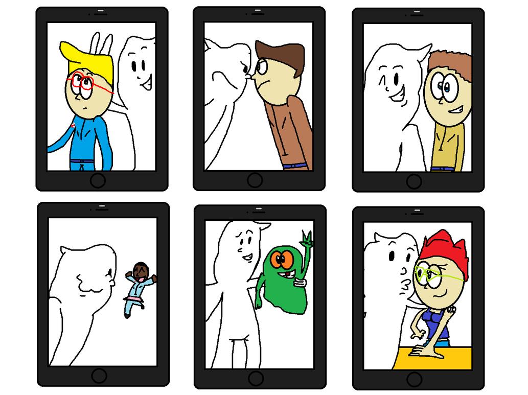 Ghostbusters Logo Ghost Takes Selfies by Ghostbustersmaniac