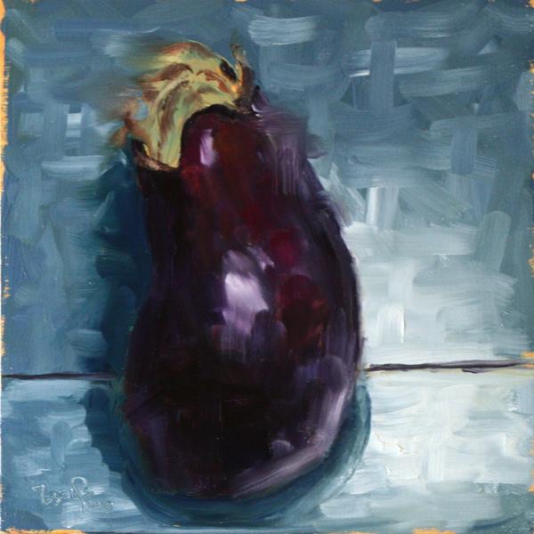 Eggplant Alla Prima by MesolimbicArt