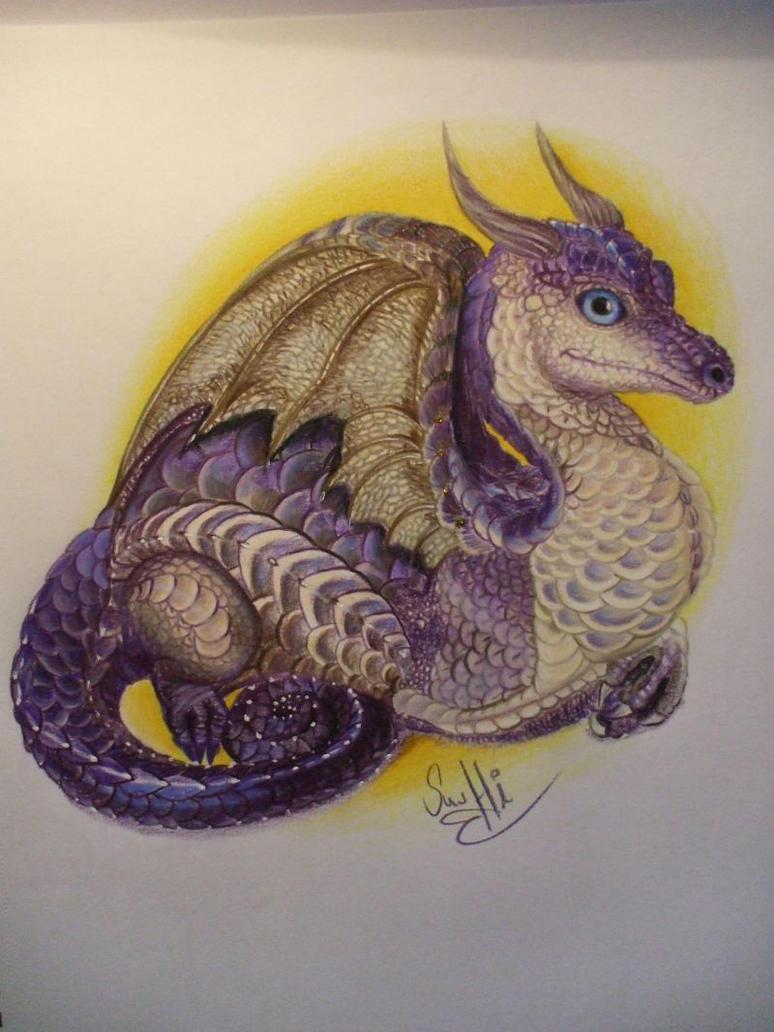 color pencil dragon by SusHi182