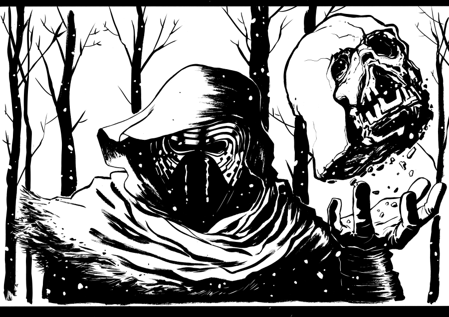 Kylo ren ink scans by kr whalen on deviantart for Kylo ren coloring page