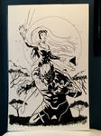 Black Panther and Storm WIP