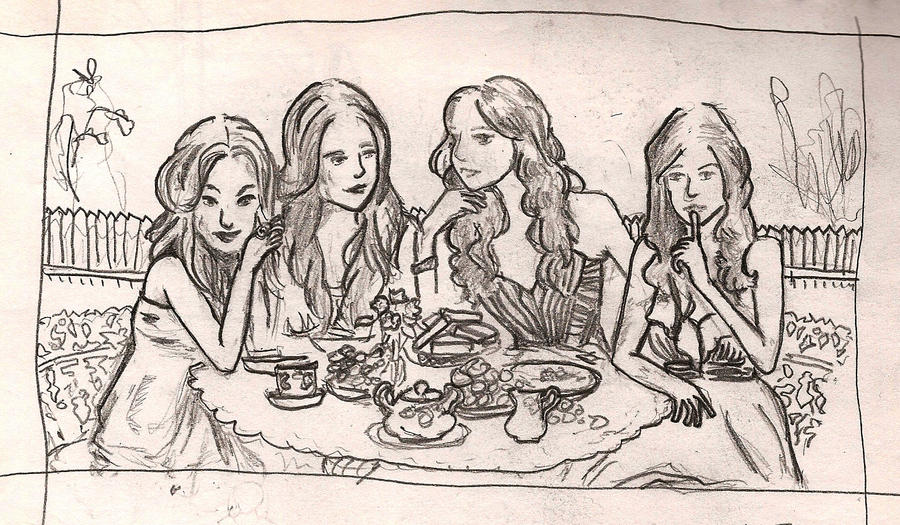 Pretty little liars by ellphie on deviantart for Pretty little liars coloring pages