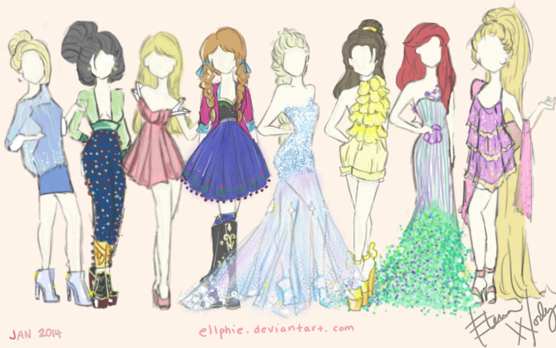 Disney Fashion By Ellphie On Deviantart