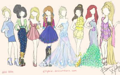 Disney Fashion by Ellphie