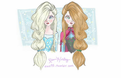 Elsa and Anna by Ellphie