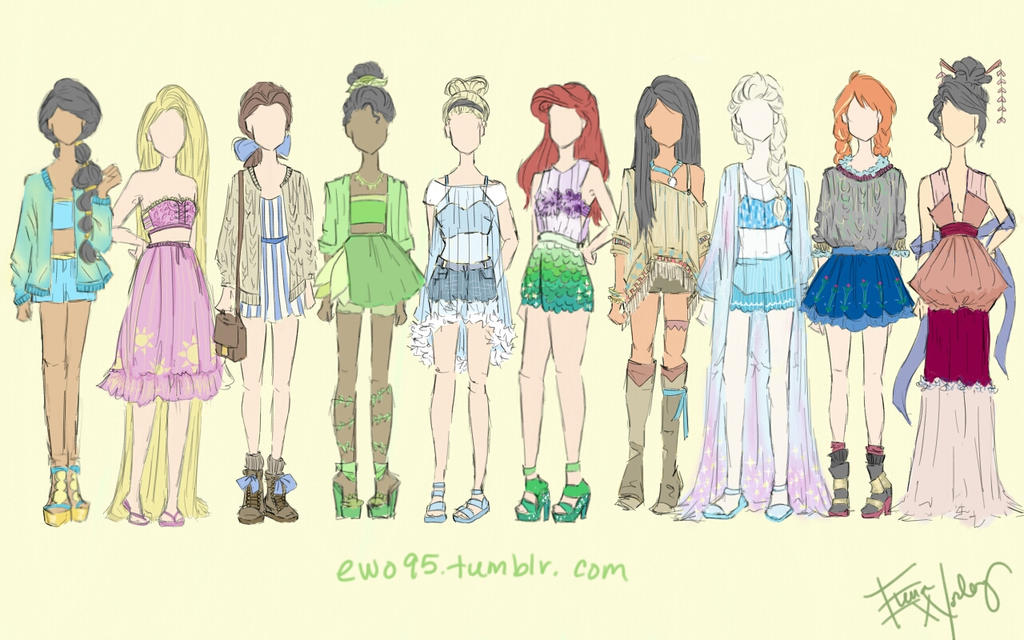Disney princess fashion girl 16