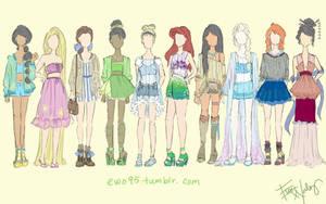Disney Princess: Summer Fashion by Ellphie