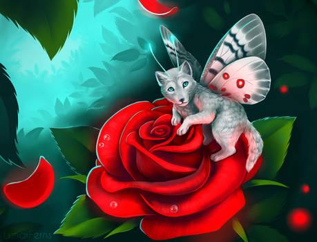 Little spirit of rose bushes...