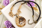 Sabertooth Smilodon - prehistoric style necklace