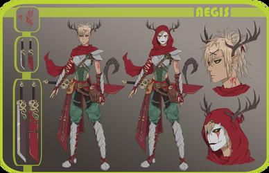 Character Chart: Aegis by BlackShial
