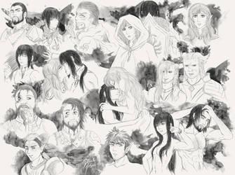 Dragon Age Doodles 1 by BlackShial
