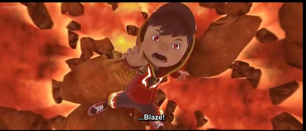 BoBoiBoy Blaze by Manniey
