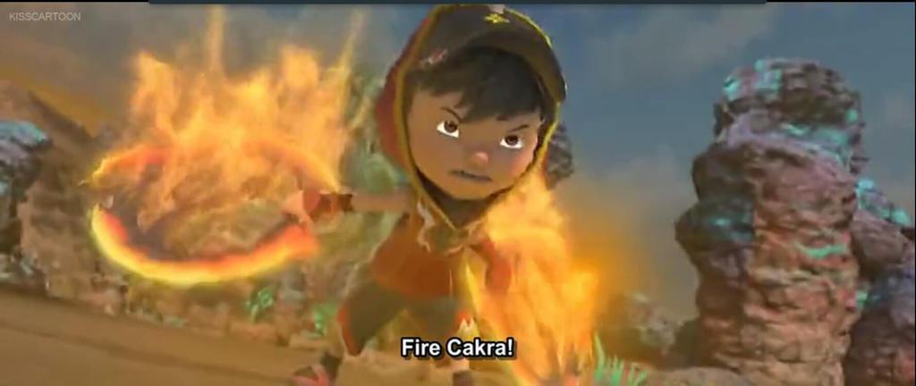 BoBoiBoy Blaze: Fire Chakram by Manniey