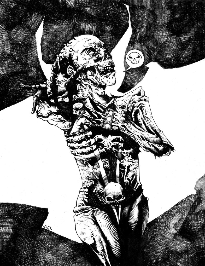 SPAWN THE UNDEAD black and white by CRUCASE