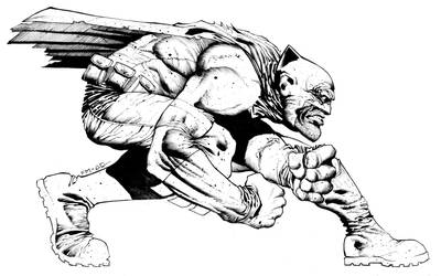 Inked Frank Miller, for practice... that's all by CRUCASE
