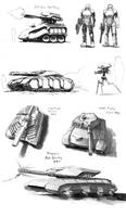 Concept Art - ground units by JerryCai