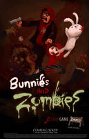 Poster : Bunnies and Zombies by JerryCai