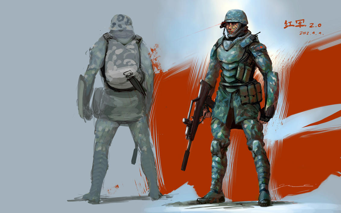 Red Army soldier 2.0 by JerryCai
