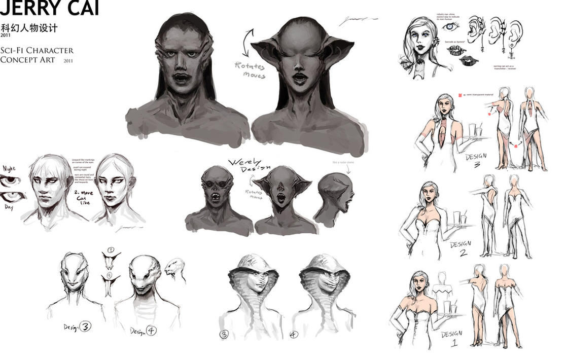Character Concept Design Portfolio : Sci fi concept art characters by jerrycai on deviantart