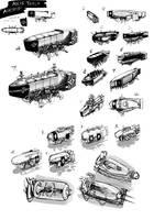Concept Art - Axis Tesla Airship by JerryCai