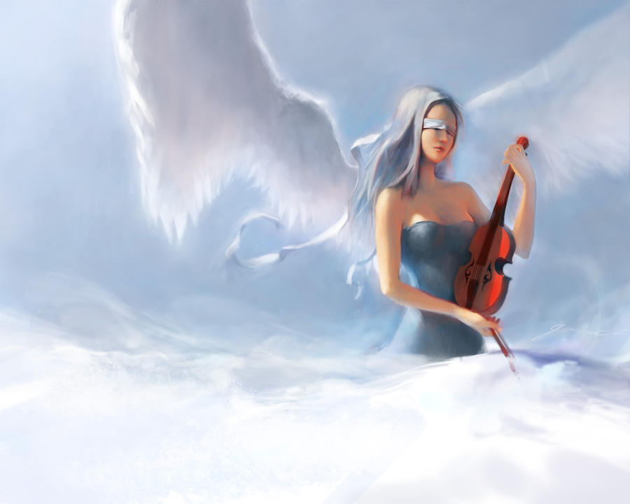 Violin Angel by JerryCai