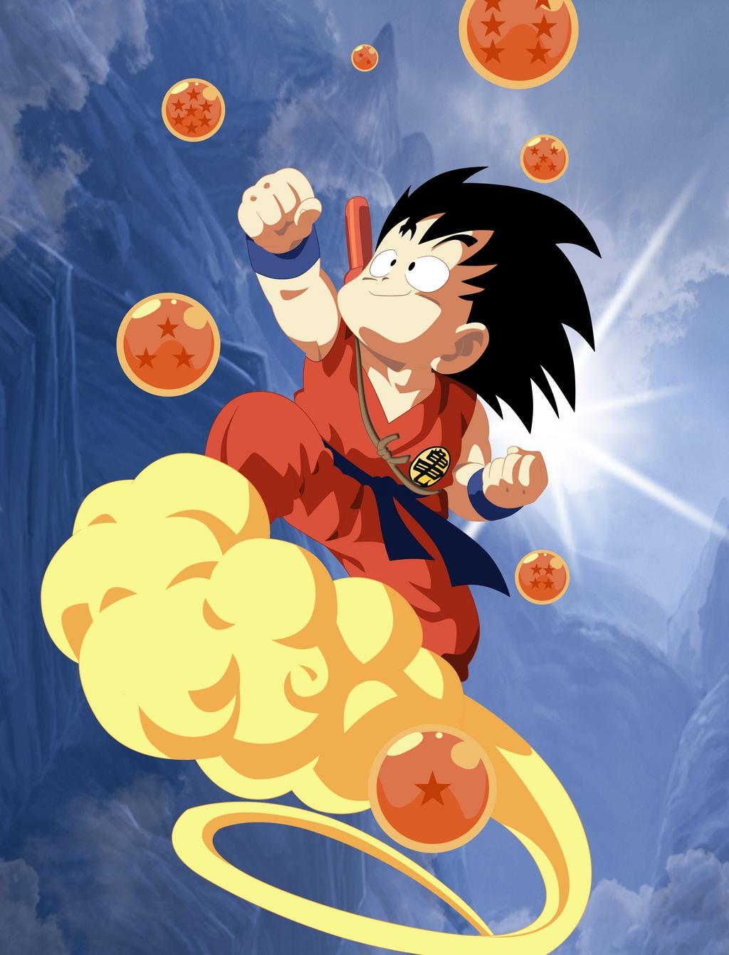 7 dragon balls and flying nimbus