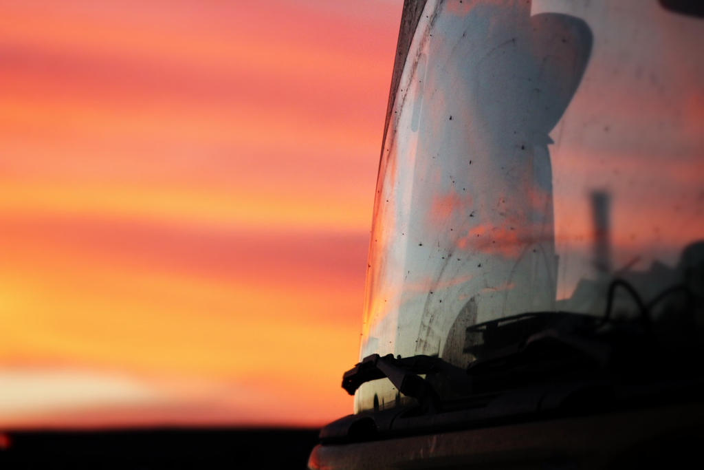 Truck on a sunset by bluemix2