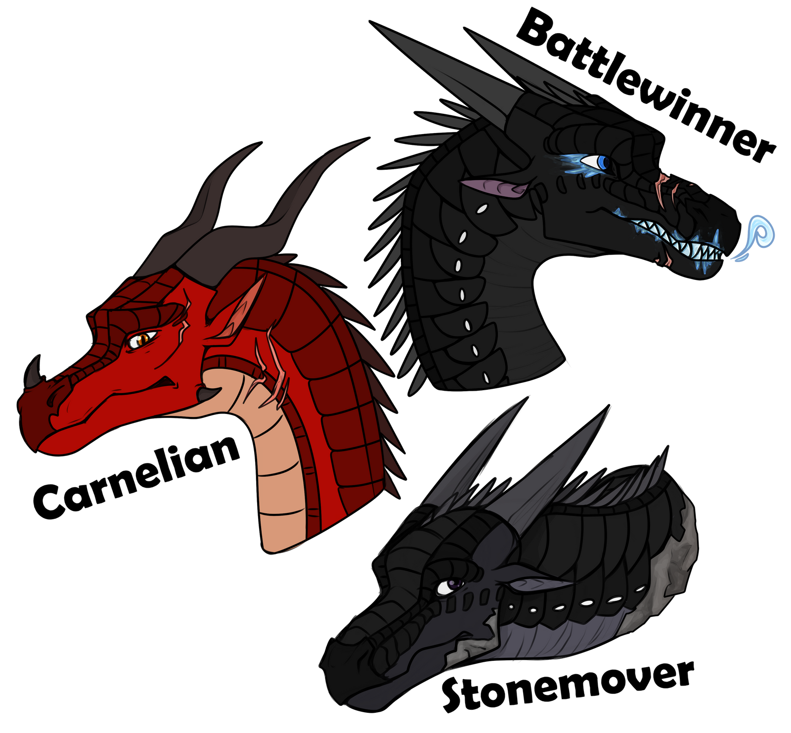Wings of Fire Characters by Lamp-P0st on DeviantArt