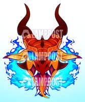 Raging Fire - Peril [WoF Sticker]