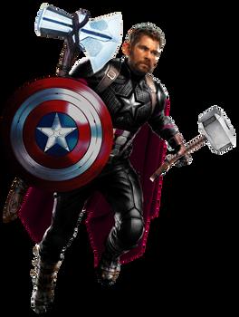 Thor as Captain America