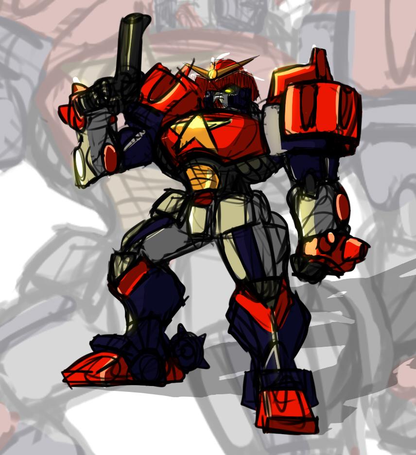 Gundam Max Revolver by Drbuffalo
