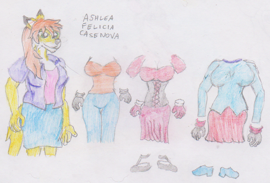 Ashlea Casenova and her outfits fin by WhippetWild