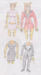 Angelina's four outfits col