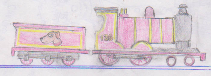 Diego the red locomotive