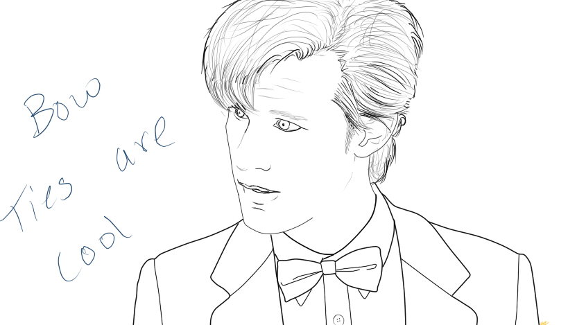 Line Drawing Of A Doctor : The th doctor lineart by mickiedhammrich on deviantart