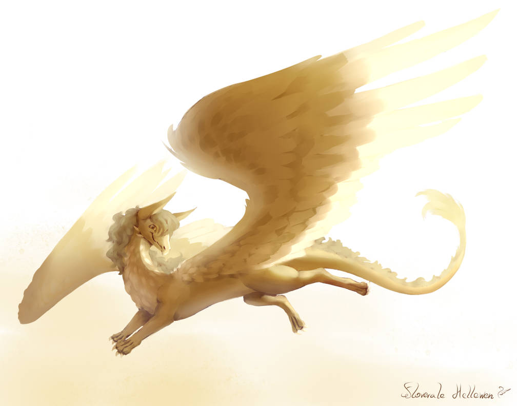 Fluffy feathered dragon - Raffle prize VK by Floverale-Hellewen