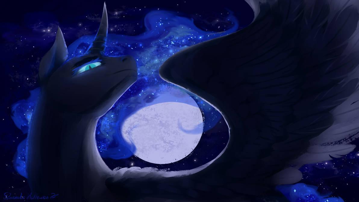Nightmare Moon - searching eyes by Floverale-Hellewen
