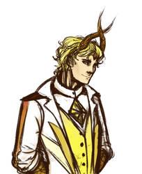 Character drawing - Selias by Floverale-Hellewen